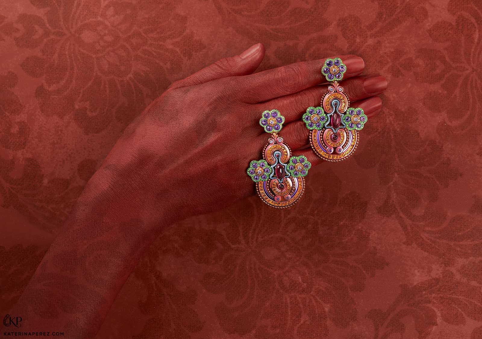 Chopard earrings from the 'Red Carpet' collection with sapphires