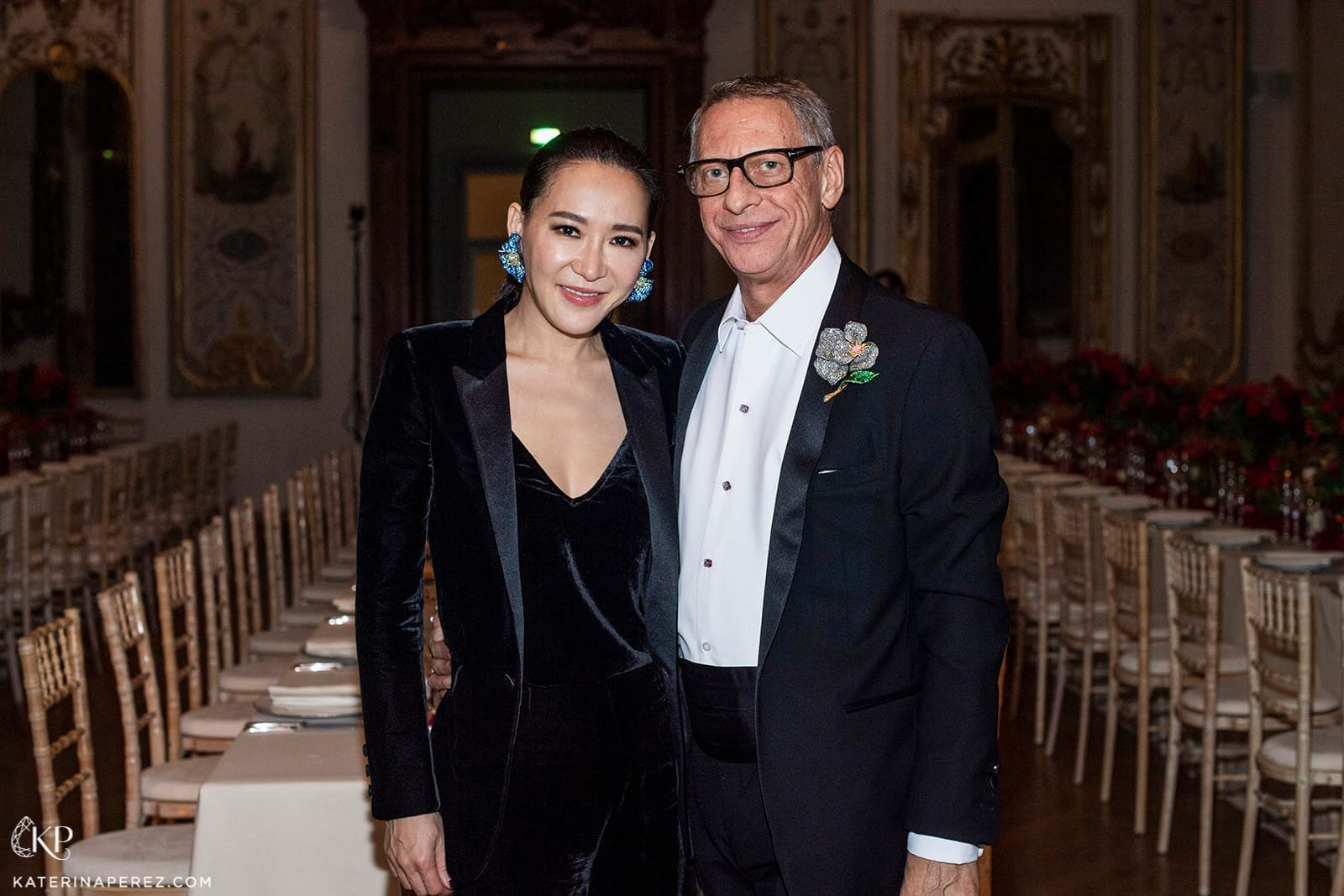 Cindy Chao with Jacques Babando, who helped to organise the evening's celebration