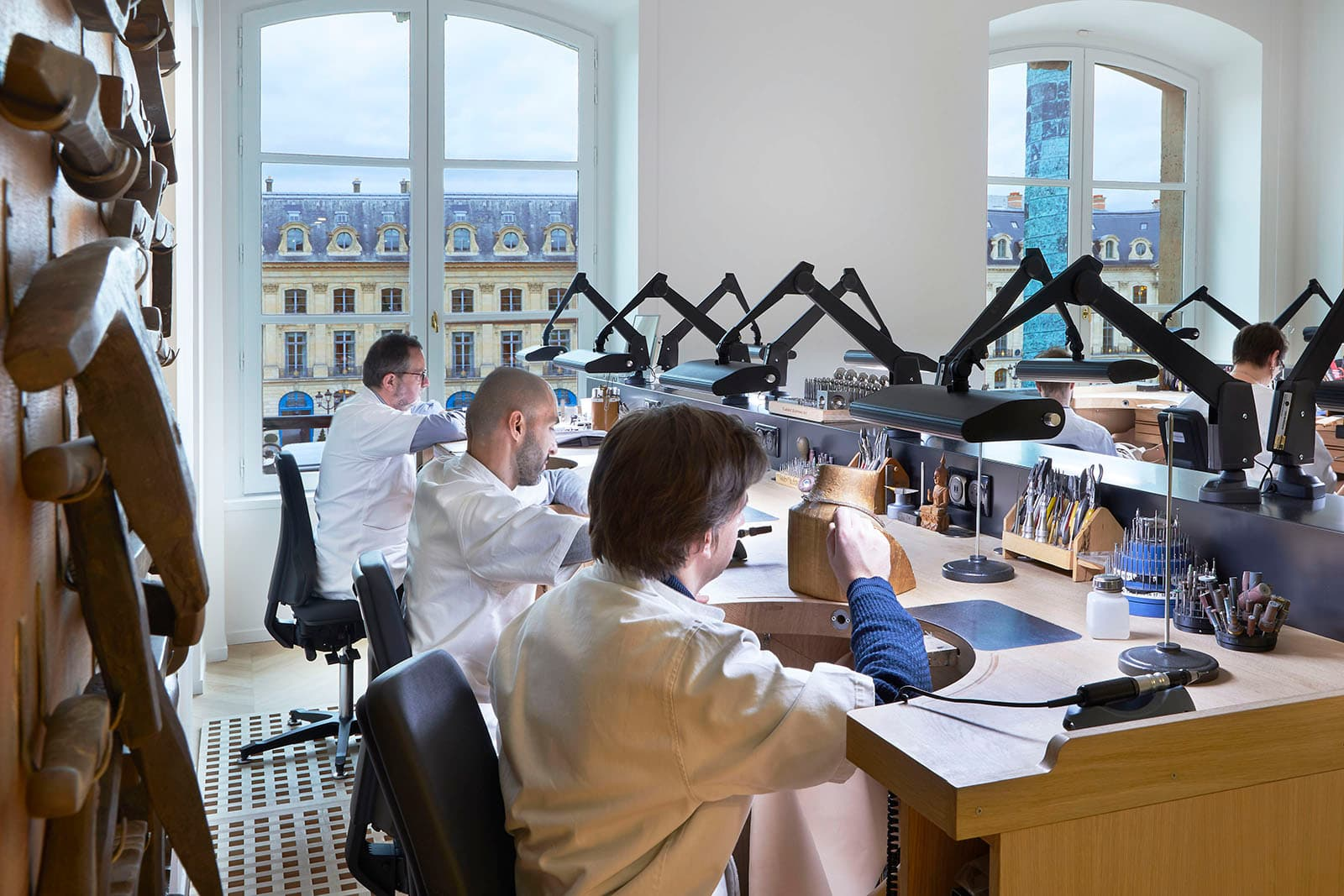 Atelier of the Chaumet boutique in Place Vendome