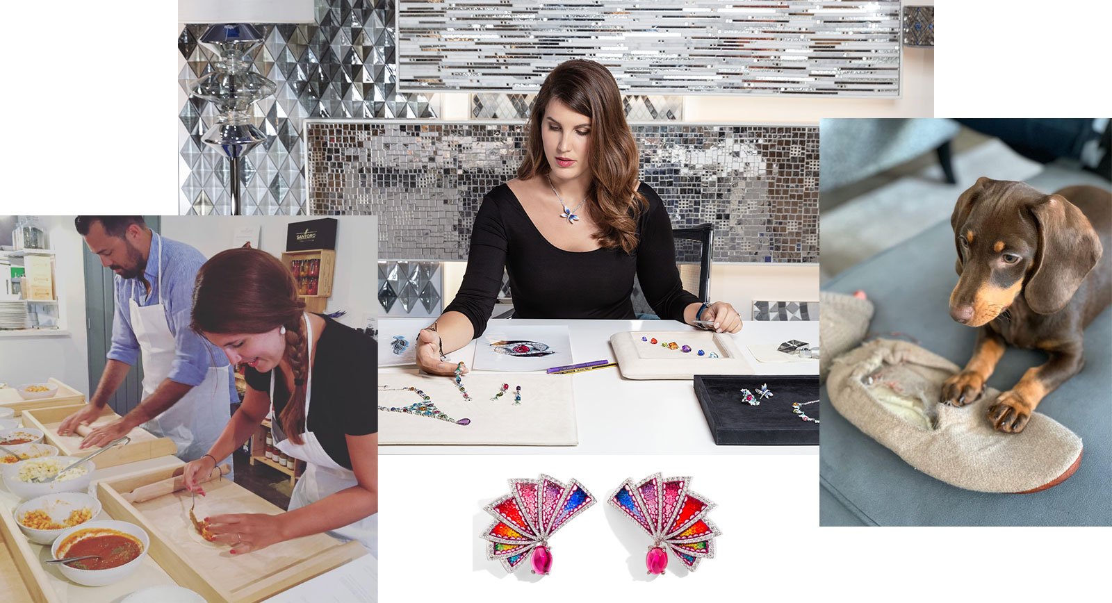 Cooking and her new dachshund are two passions of Gioia Placuzzi, Creative Director of SICIS jewellery