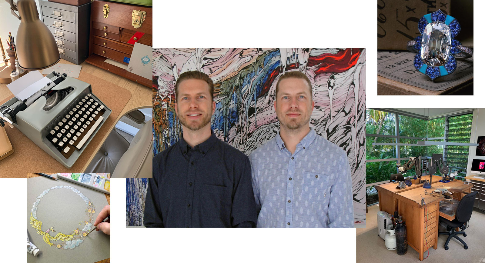 David and Michael from David Michael Jewels pictured beside their workshop/studio