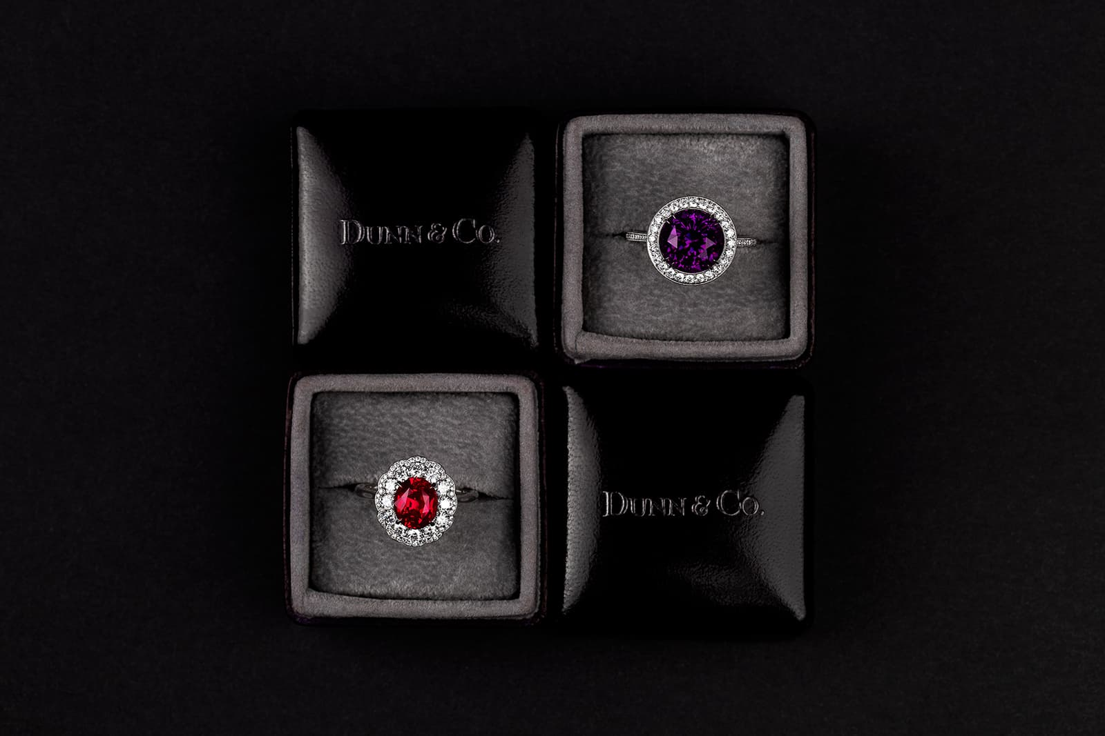 A qualified gemmologist, Dunn's designs are always inspired by the stones, which are the focal point of each jewel