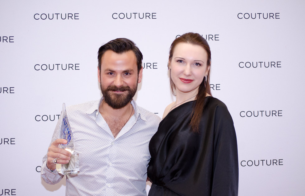 Nikos Koulis and Katerina Perez at the Couture Design Awards