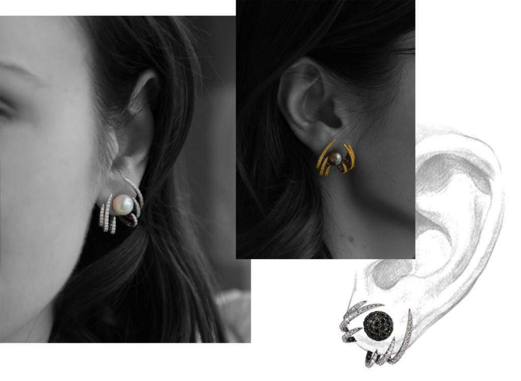 Kavant&Sharart Phoenix earrings with interchangeable clasps