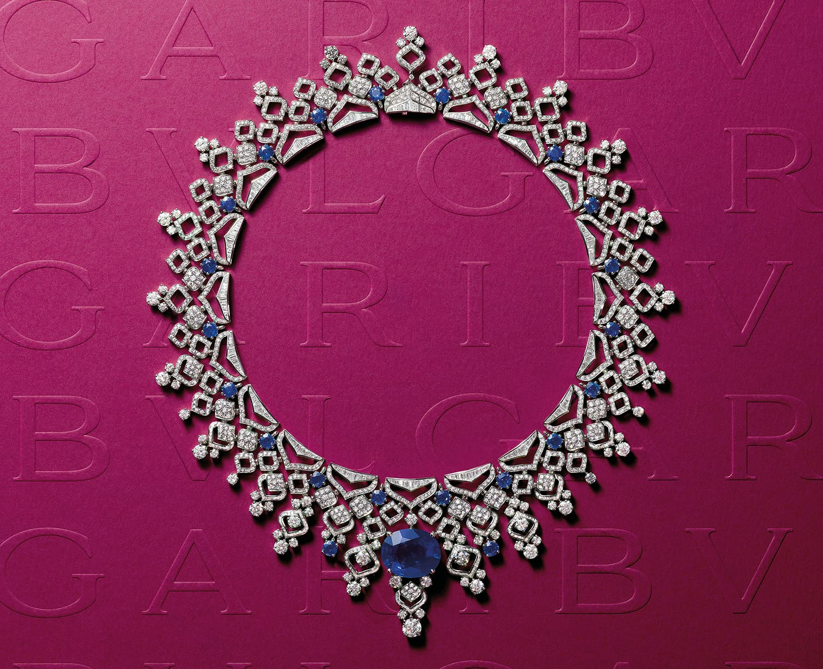 Bvlgari Barocko Sapphire Lace high jewellery necklace