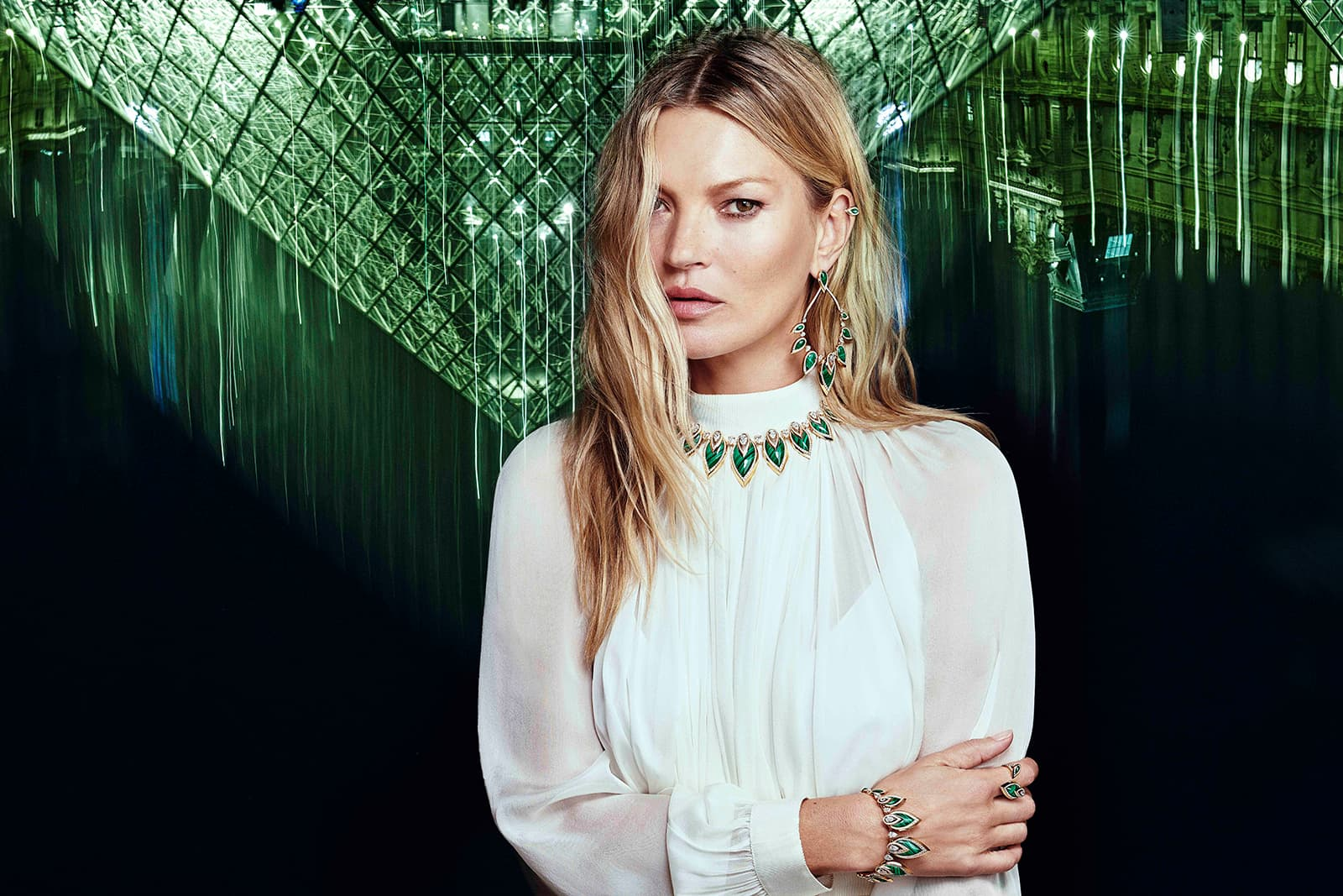 The Messika by Kate Moss collection sees the Parisian jeweller use ornamental hard stones like malachite for the first time