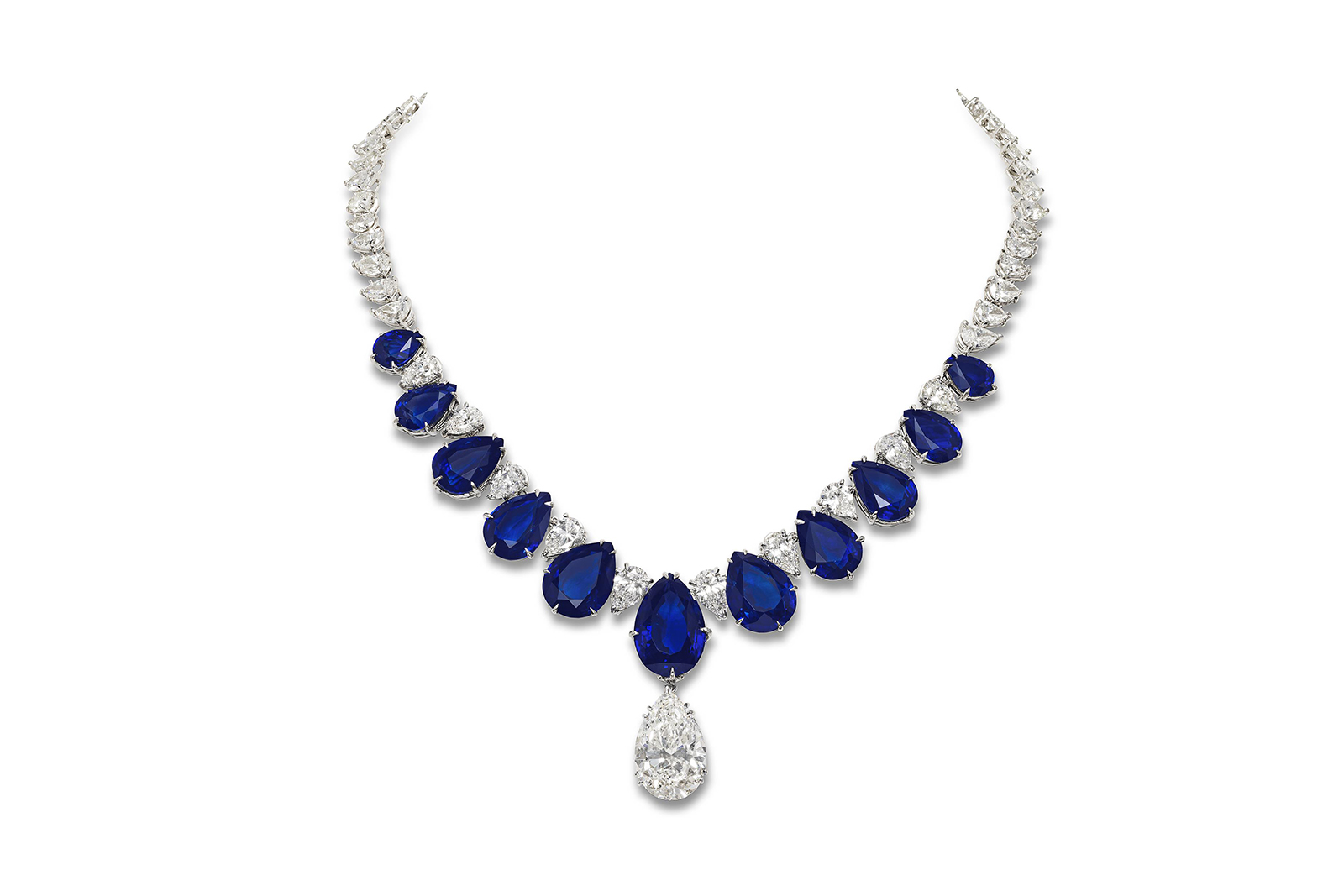 A remarkable feat of contemporary design: Jahan's natural sapphire and diamond necklace