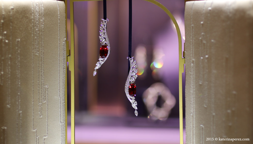 Boghossian Ballet Oriental earrings with rubies and diamonds