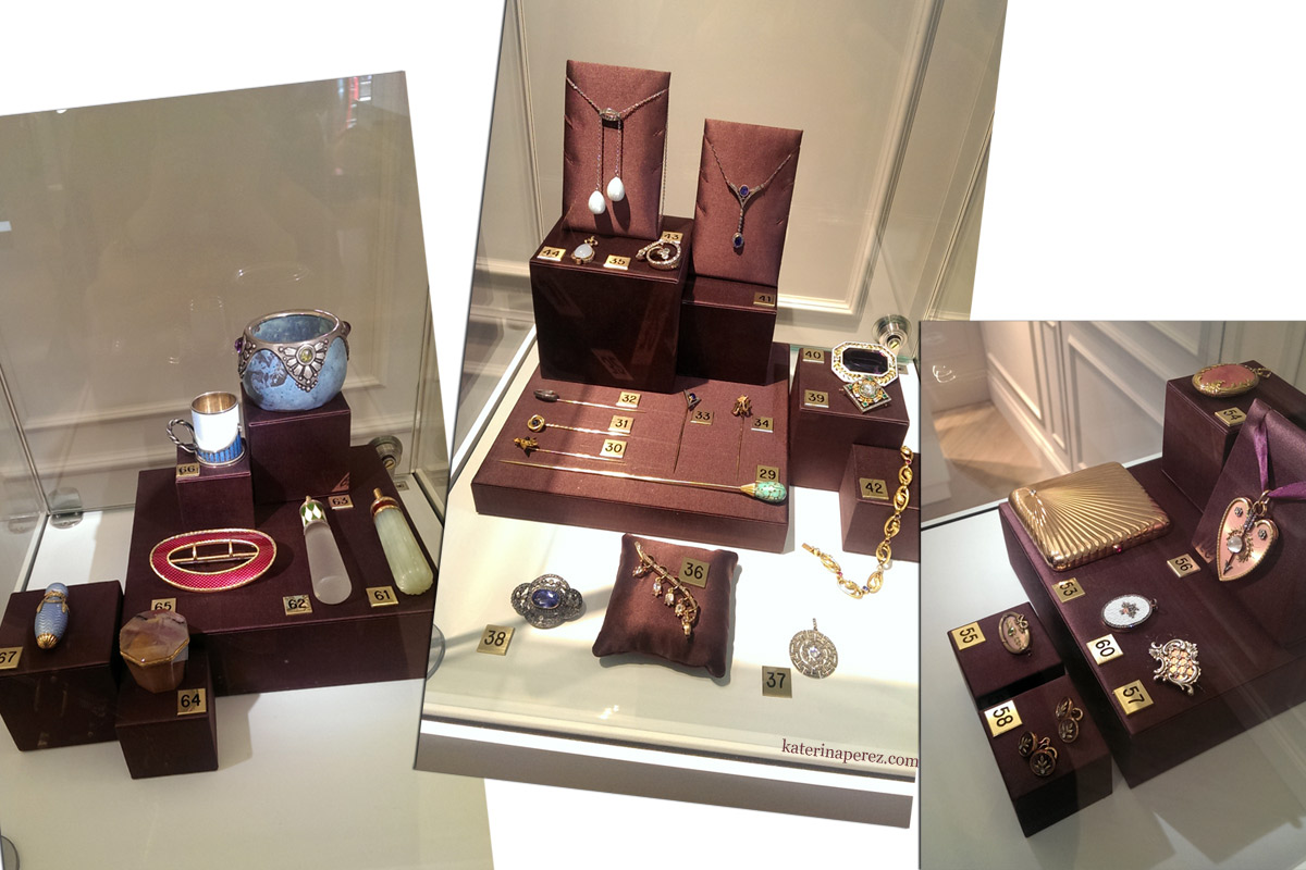 Faberge displays in Harrods