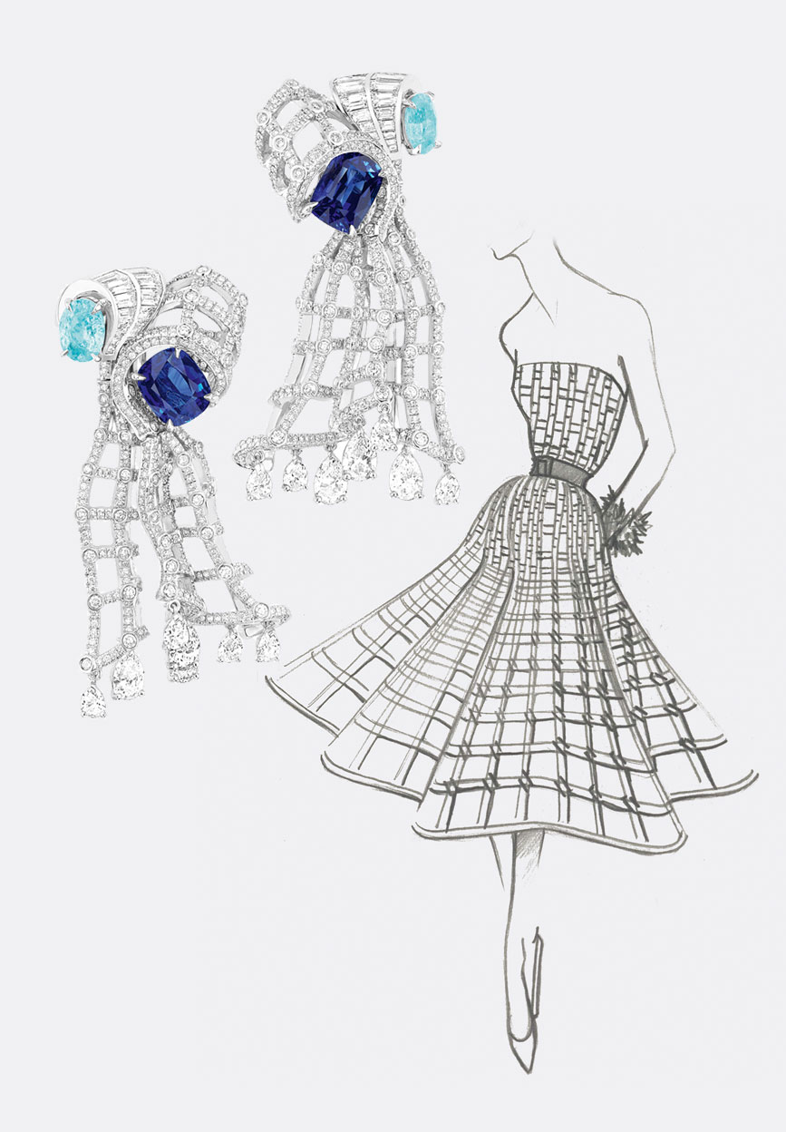 Archi Dior Sapphire earrings