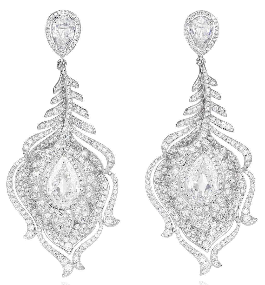 Chopard Feather Earrings from the Red Carpet Collection
