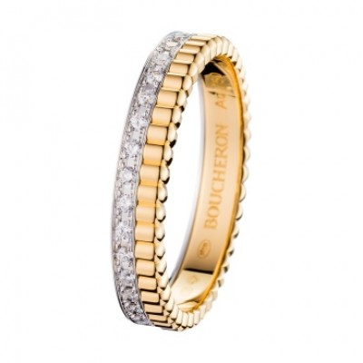 Boucheron Quatre band in yellow gold with diamonds