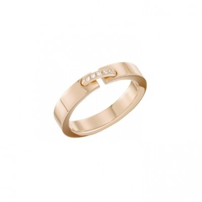 Chaumet Liens band in rose gold and diamonds