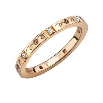 Theo Fennell band in rose gold and diamonds