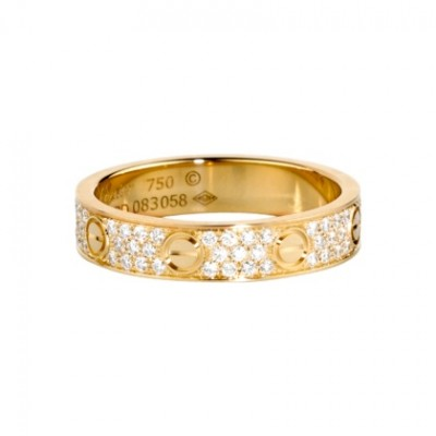 Cartier LOVE pave diamonds band in yellow gold