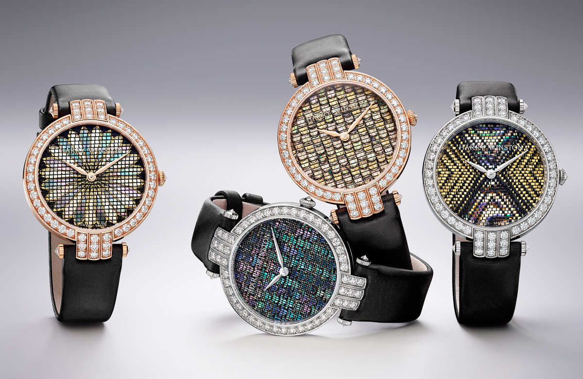 Harry Winston's Premier Precious Weaving Automatic 36mm watches