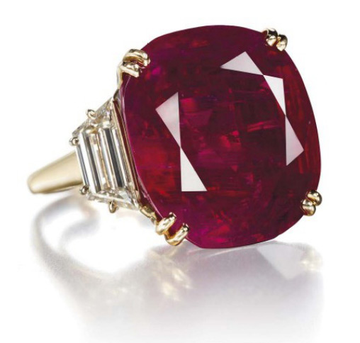 Ruby ring by Chaumet sold at Sotheby
