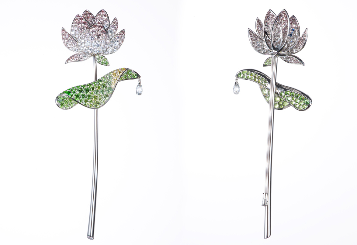 The Lotus Flower Brooch by Gimel