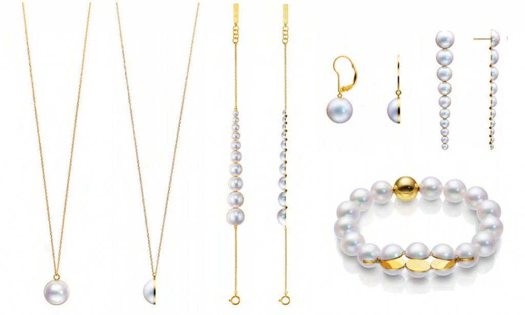 Melanie Georgacopoulos for Tasaki. 18K Yellow Gold and Cultured Pearls