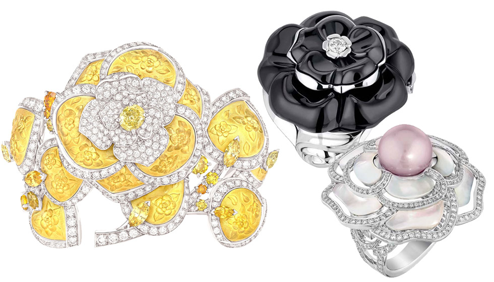 Chanel Camellia jewellery from various collections