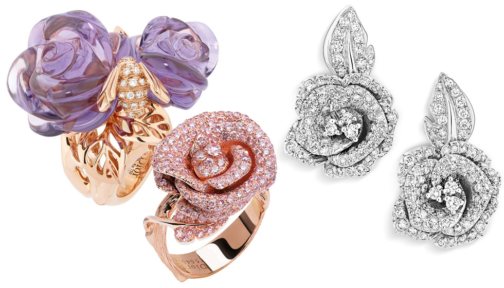 Rose jewels by Dior