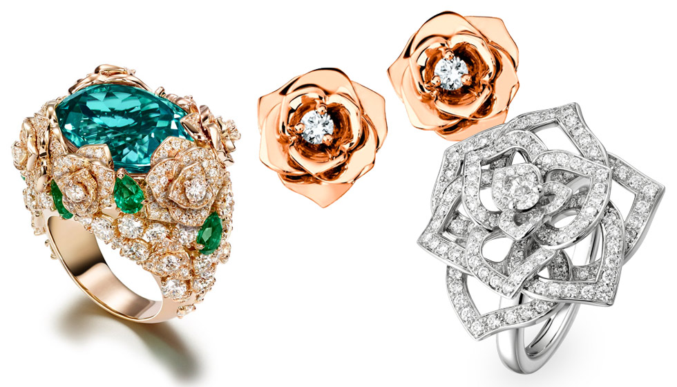 Roses from various Piaget collections