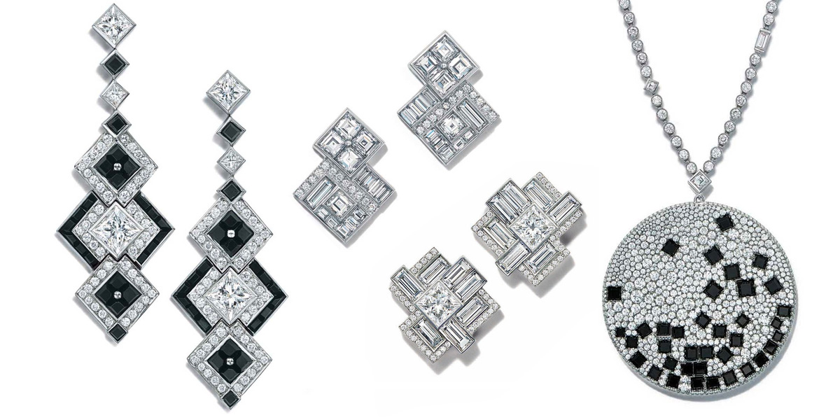 Diamond and onyx jewellery from Tiffany&Co Masterpieces 2015 collection
