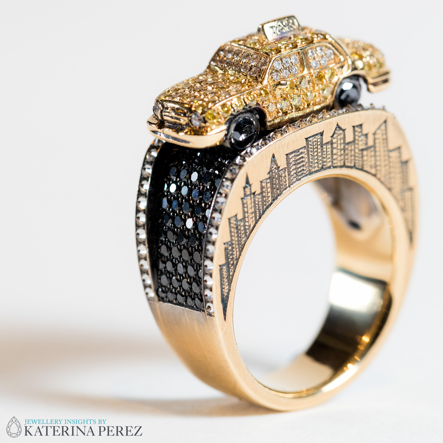 Wendy Brandes New York Taxi ring from the Maneater collection. Photo credit: Simon Martner for katerinaperez.com