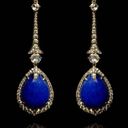 Annoushka One of a Kind 18ct white gold, diamonds and Sapphire earrings