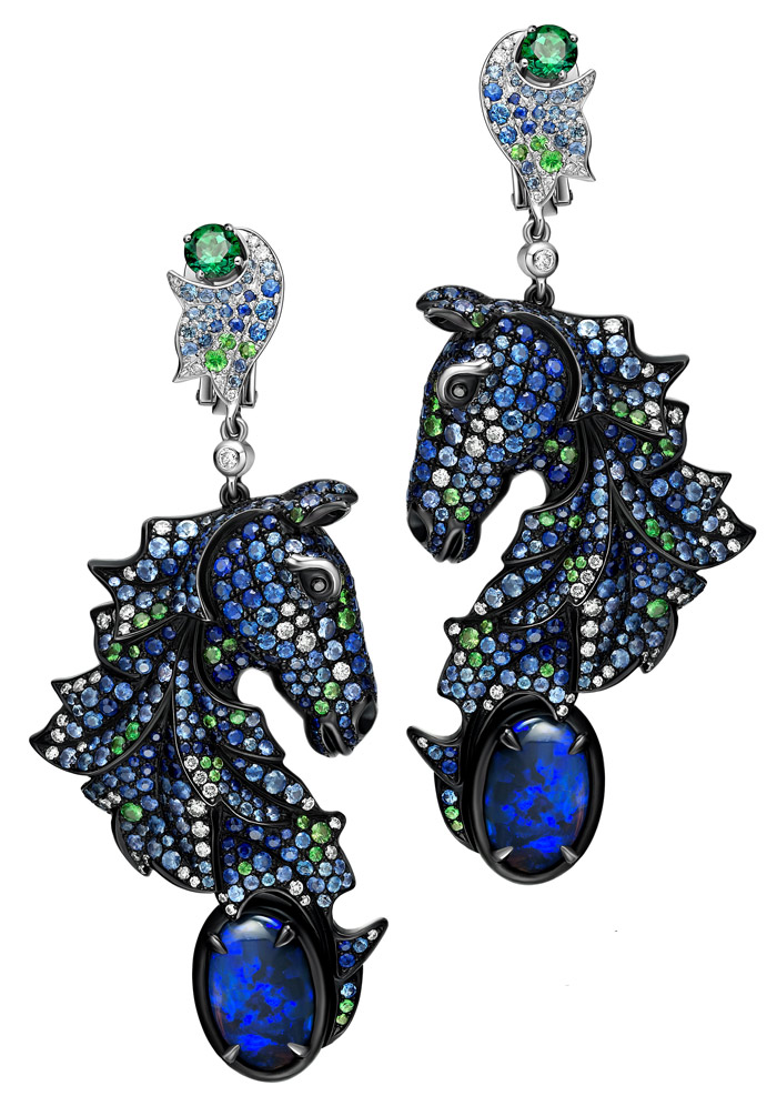 Cécile CHALVET Les Cheveaux de Paradis (Horses of Heaven) earrings