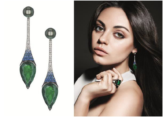 Mila Kunis and  Gemfields