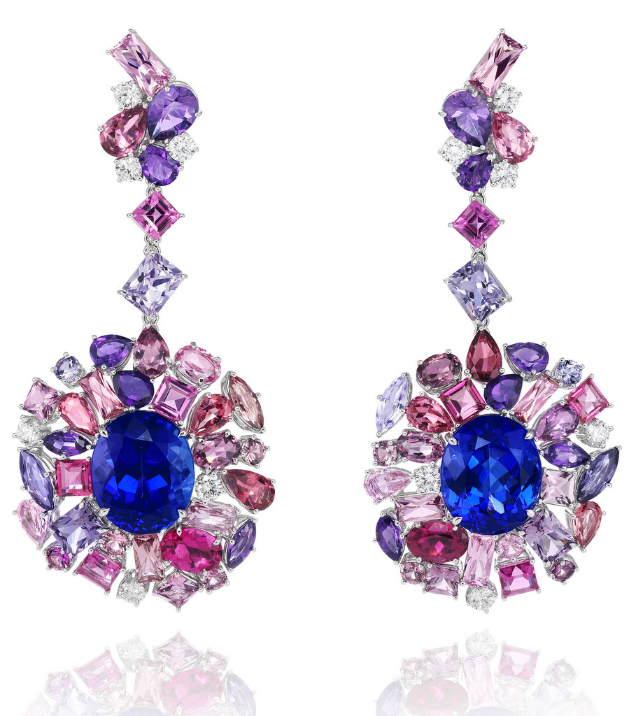 849374-1001 Tanzanite Earrings from the Red Carpet Collection 2013 Chopard