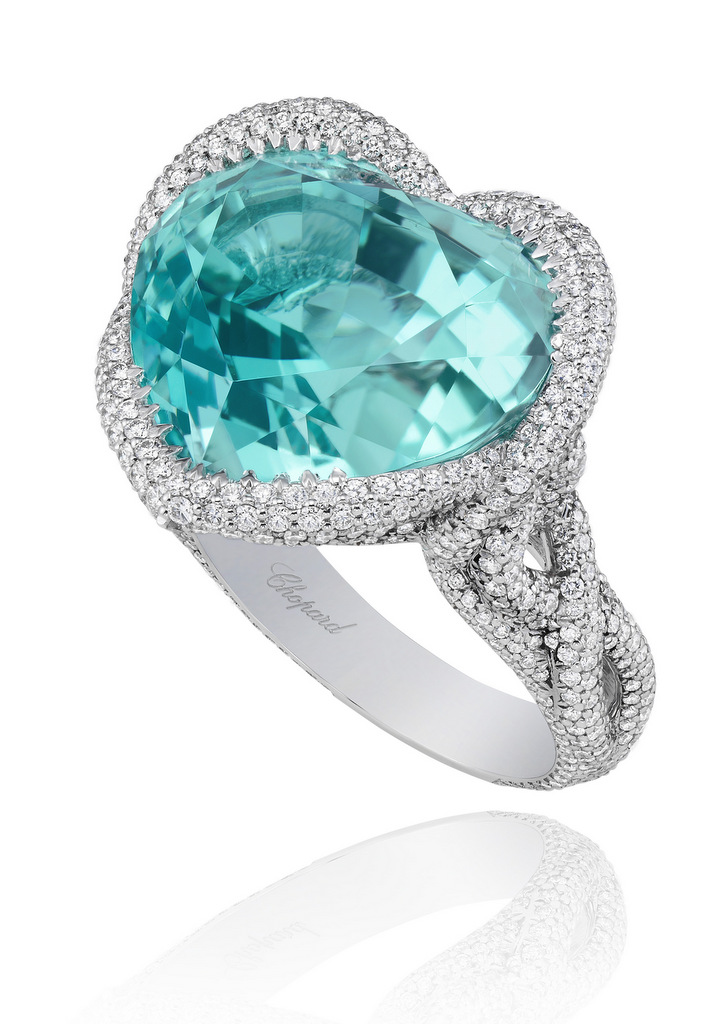 Paraíba Tourmaline Ring from the Red Carpet Collection 2013 Chopard