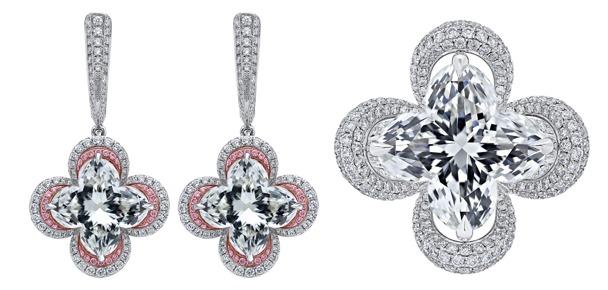 Lily Cut diamonds set in Lili jewellery