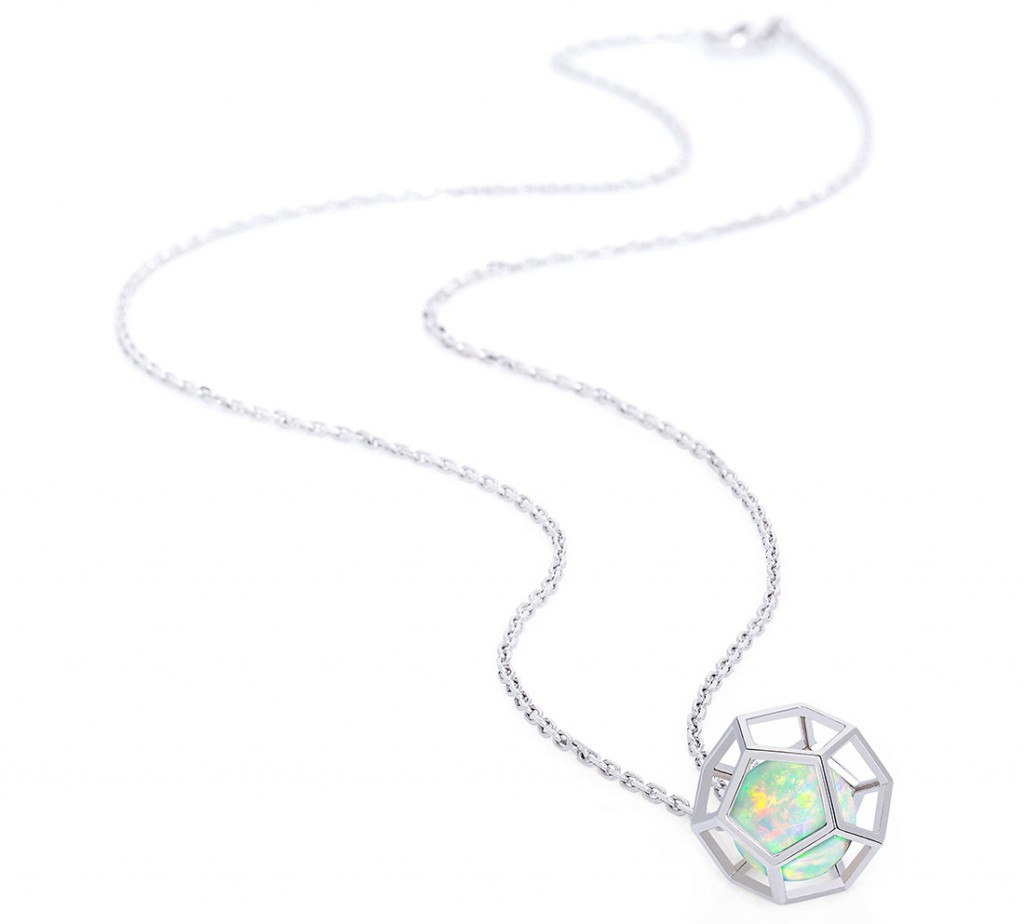 Ornella Iannuzzi Rock It! cage pendant in white gold