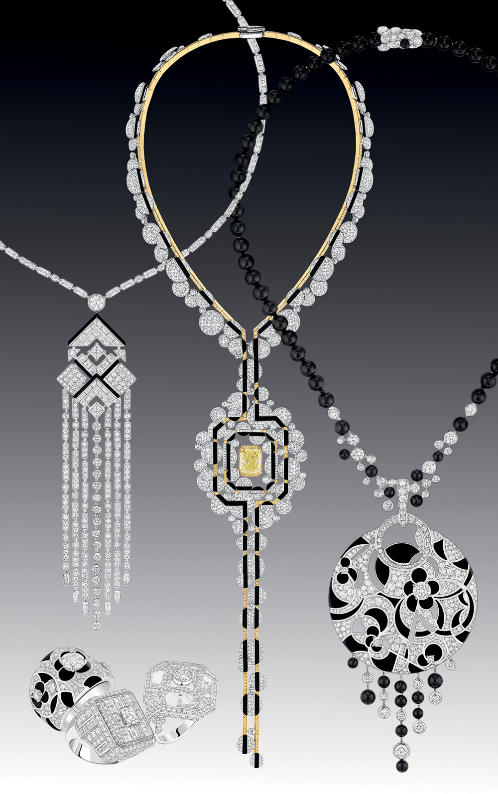 Chanel Necklaces Charlestone, Morning in Vendome, Midnight