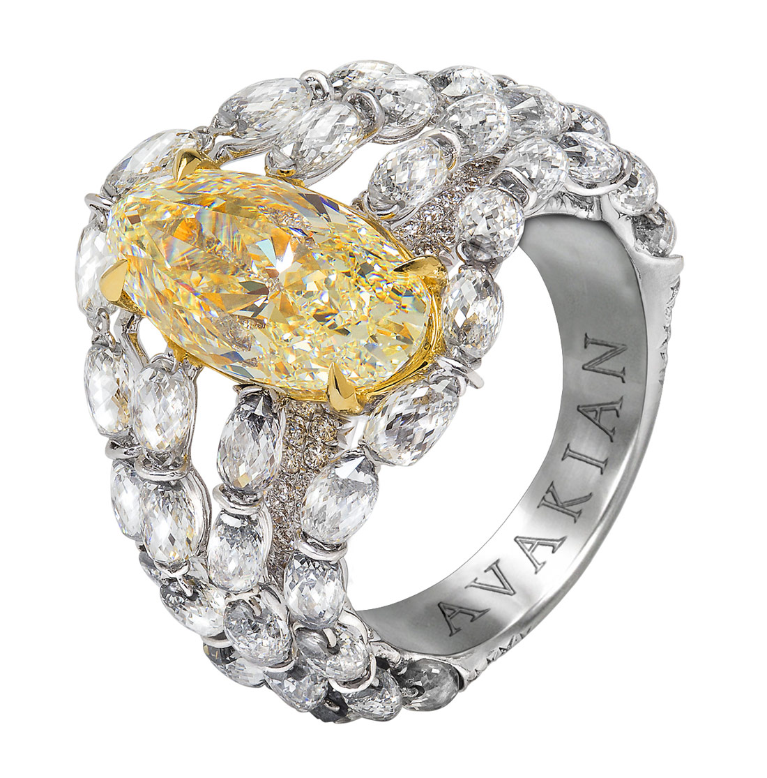Avakian yellow diamond ring
