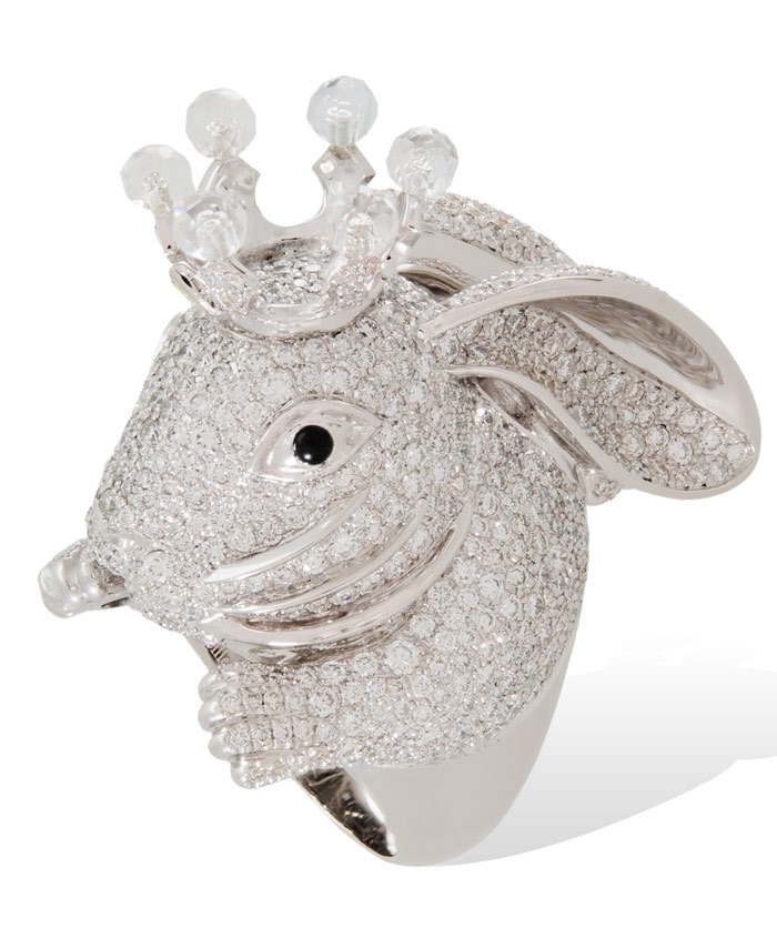 Diamond Bunny from the Animal Farm collection by Lydia Courteille