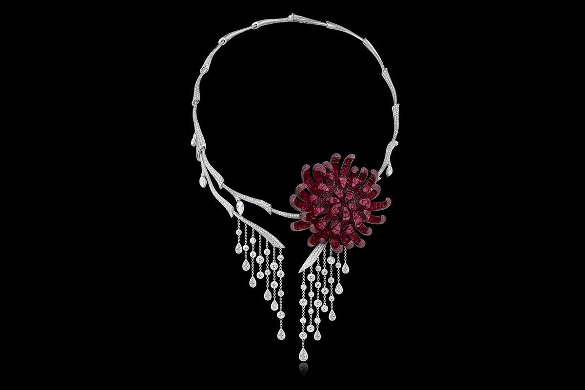 Stenzhorn Chrysanthemum necklace from The Noble Ones High Jewelery collection