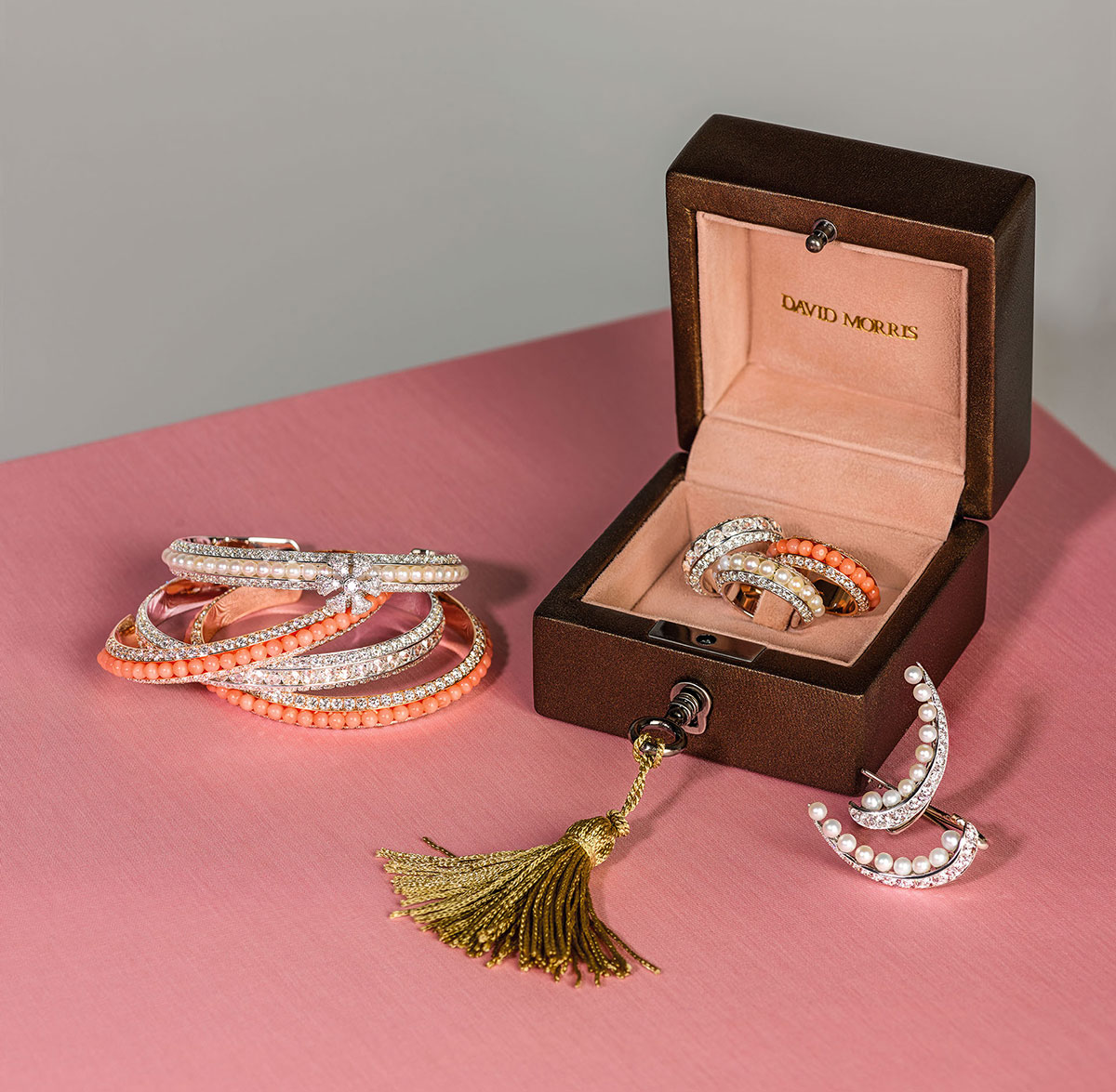 The new Pearl Rose collection by David Morris