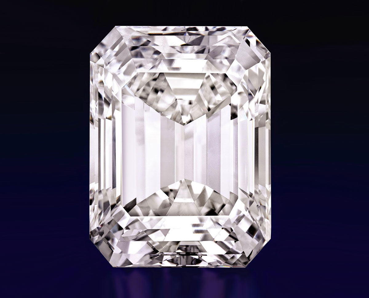 The 100 cts D-IF emerald cut diamond