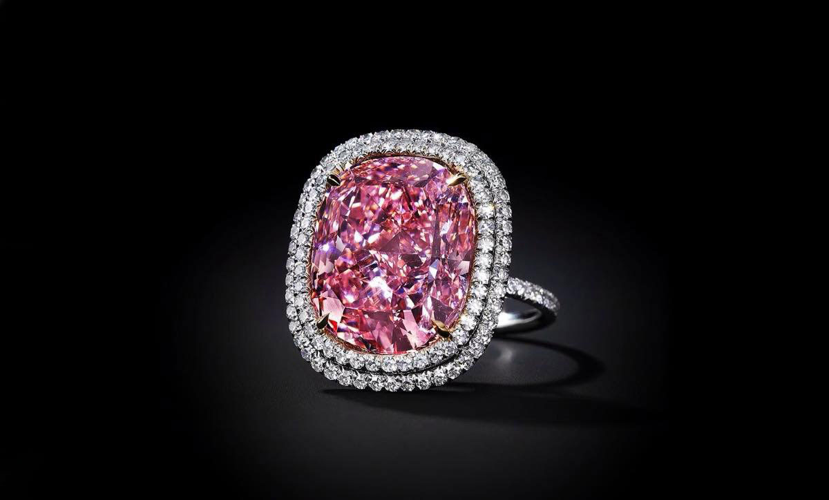 The Sweet Josephine 18.08 cts pink diamond ring