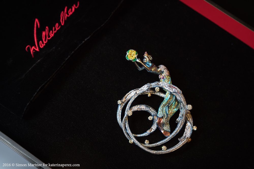 Wallace Chan Apsara brooch with yellow diamond