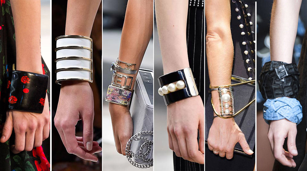 Cuff bracelets from catwalk Spring – Summer 2015