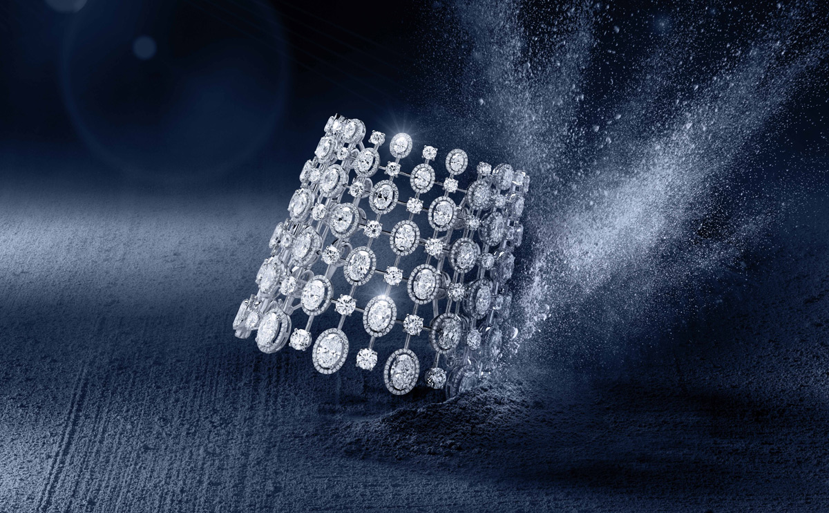 Messika Cassiopée diamond cuff from the Diamants Celestes collection