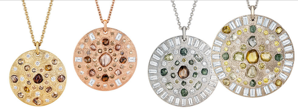 De Beers Talisman pendants with diamonds ranging from 3.58cts to 14.13cts