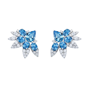 Midnight aquamarine earrings