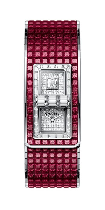 'Code Coco' collection watch with 62.81ct rubies and diamonds in white gold