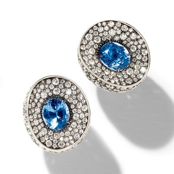 Mirror earrings with sapphires and diamonds