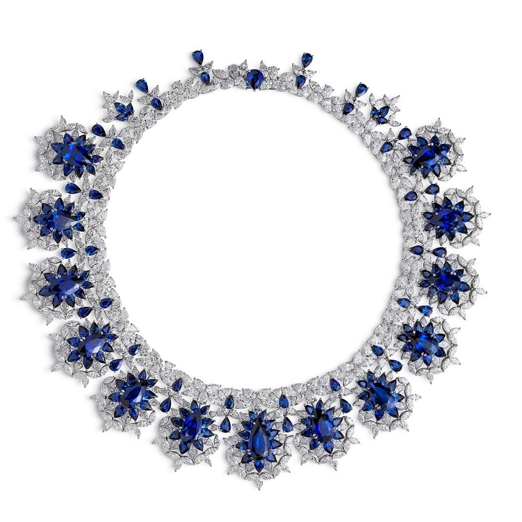 Red Carpet Collection necklace with sapphires and diamonds
